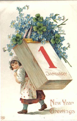 cartolina capodanno vintage